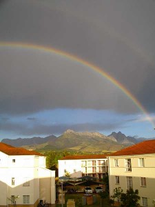 View from dorms at Stellenbosch University in South Africa