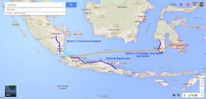 Travel plan for Indonesia, January 2015