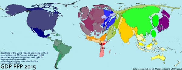 Economic prospects, 2015, from viewsoftheworld.net